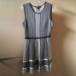 BCBG MaxAzria Black & White Knit Dress